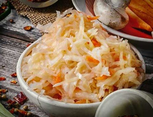Fermented Sauerkraut Kept Raw